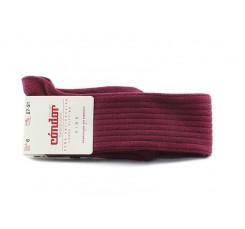 Calcetín alto color burdeos de canale Cóndor