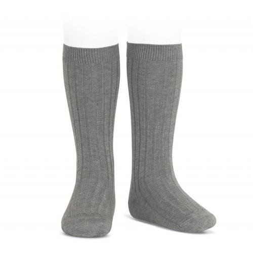 Calcetin alto color gris claro de canale Cóndor