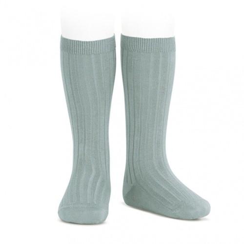 Calcetín alto color verde gris de canale Cóndor
