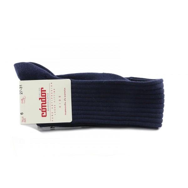 Calcetin alto color azul de canale Cóndor