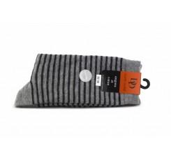 Calcetines gris con rayas negras Doré Doré