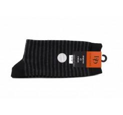 Calcetines negros con rayas grises Doré Doré