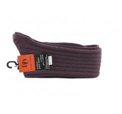 Calcetín alto morado claro de lana con canalé Doré Doré