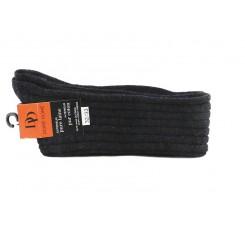 Calcetín alto gris oscuro de lana con canalé Doré Doré