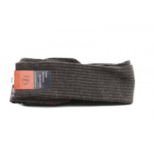 Calcetín alto marrón de lana para caballero con canale Doré Doré