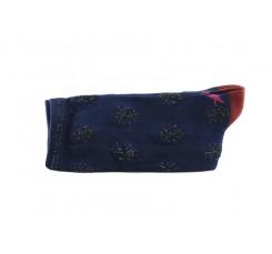 Calcetín corto en color azul con estampado de arañas Hop Socks
