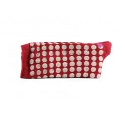 Calcetín corto rojo con luneres Big dots Hop Stocks