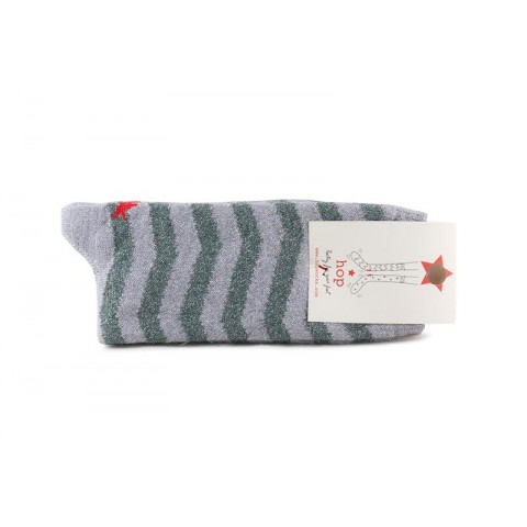 Calcetín corto con rayas grises Hop Socks Cebra