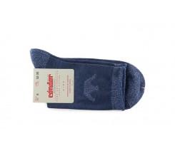 Calcetin corto azul con corona Condor