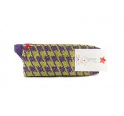 Calcetín corto amarillo/morado patagallo Hop Socks