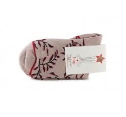 Calcetín corto rosa con ramas Hop Socks