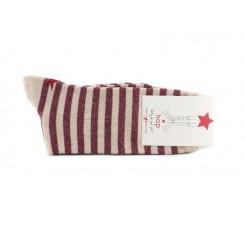 Calcetín corto fresa con rayas lurex Hop Socks