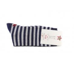 Calcetín corto azul con rayas lurex Hop Socks
