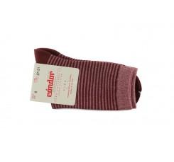 Calcetin corto con rayas lurex color teja Cóndor