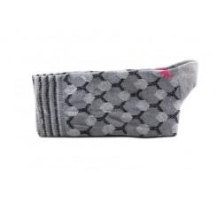 Calcetín corto gris estampados geométricos Red Hop Socks