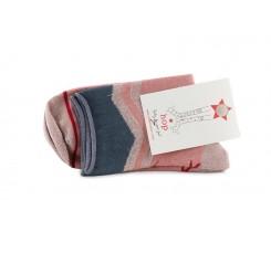 Calcetín corto rosa con triángulo gris Hop Socks