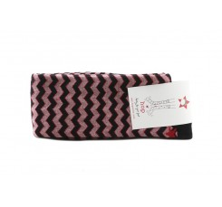 Calcetín alto rojo/negro Zigzag Hop Socks