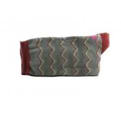Calcetín corto verde con zigzag Hop Socks