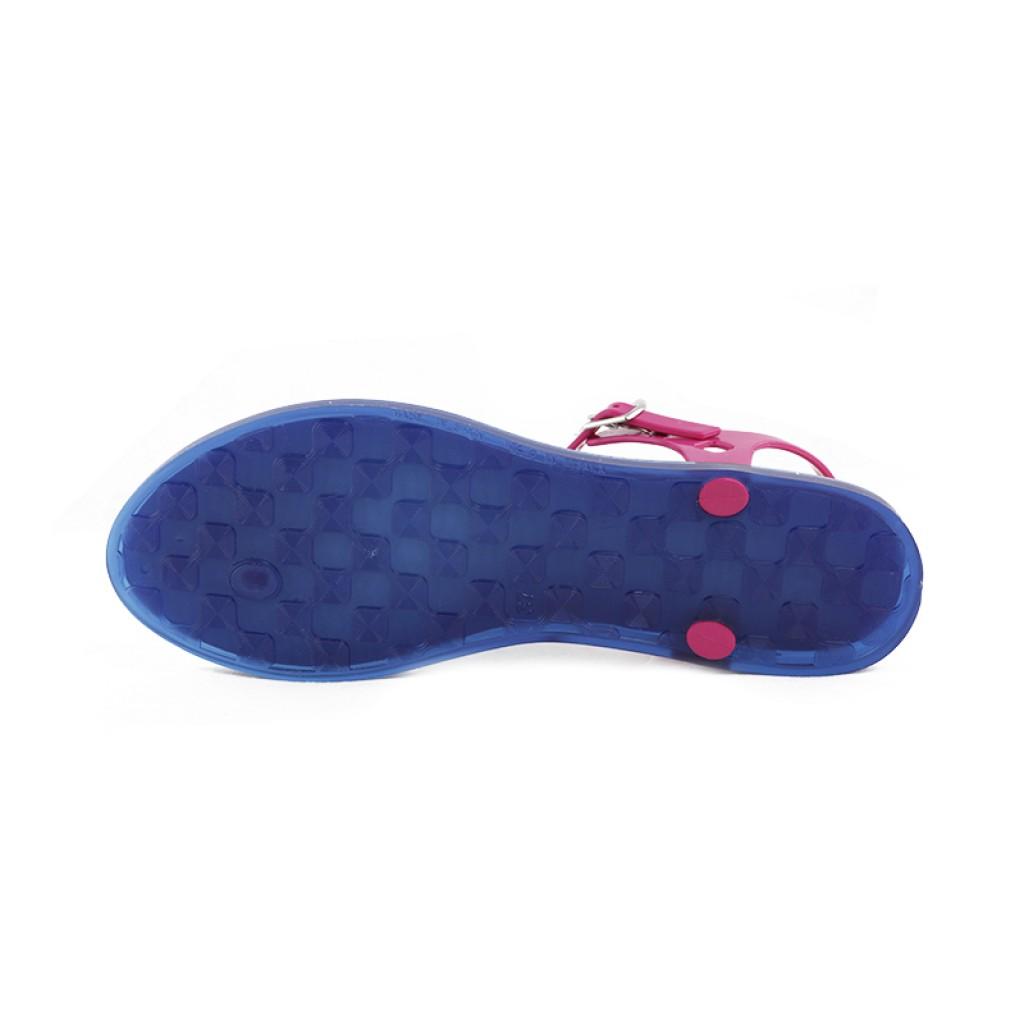 6558d8c21 Sandalia dedo azul fucsia con hebilla Ursula Igor