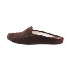 Zapatilla chinela para casa ante marrón Jeromin