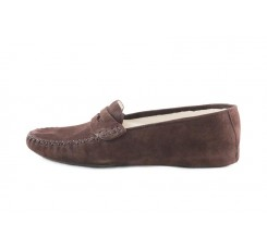 Zapatilla mocasín para casa de ante marrón Jeromín