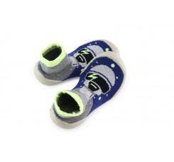 Zapatilla para casa calcetin azulón con robot Collegien