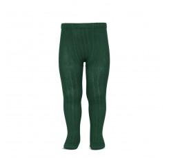 Leotardo verde de canalé Cóndor