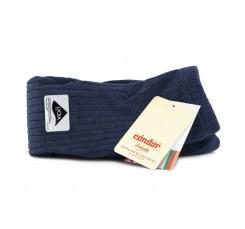 Leotardo azul jaspeado de canalé Cóndor