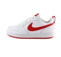 Deportiva en piel blanca y roja con cordón Nike Borough