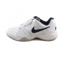 Deportiva blanca con símbolo azul con cordón Nike