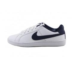 Deportiva blanca con simbolo azul con cordón Nike