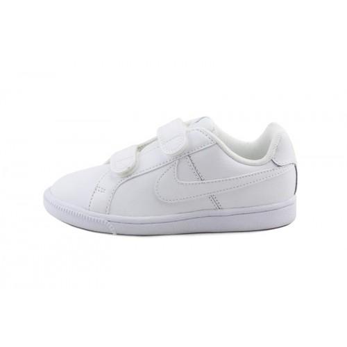 Deportiva blanca con simbolo blanco con velcro Nike Court