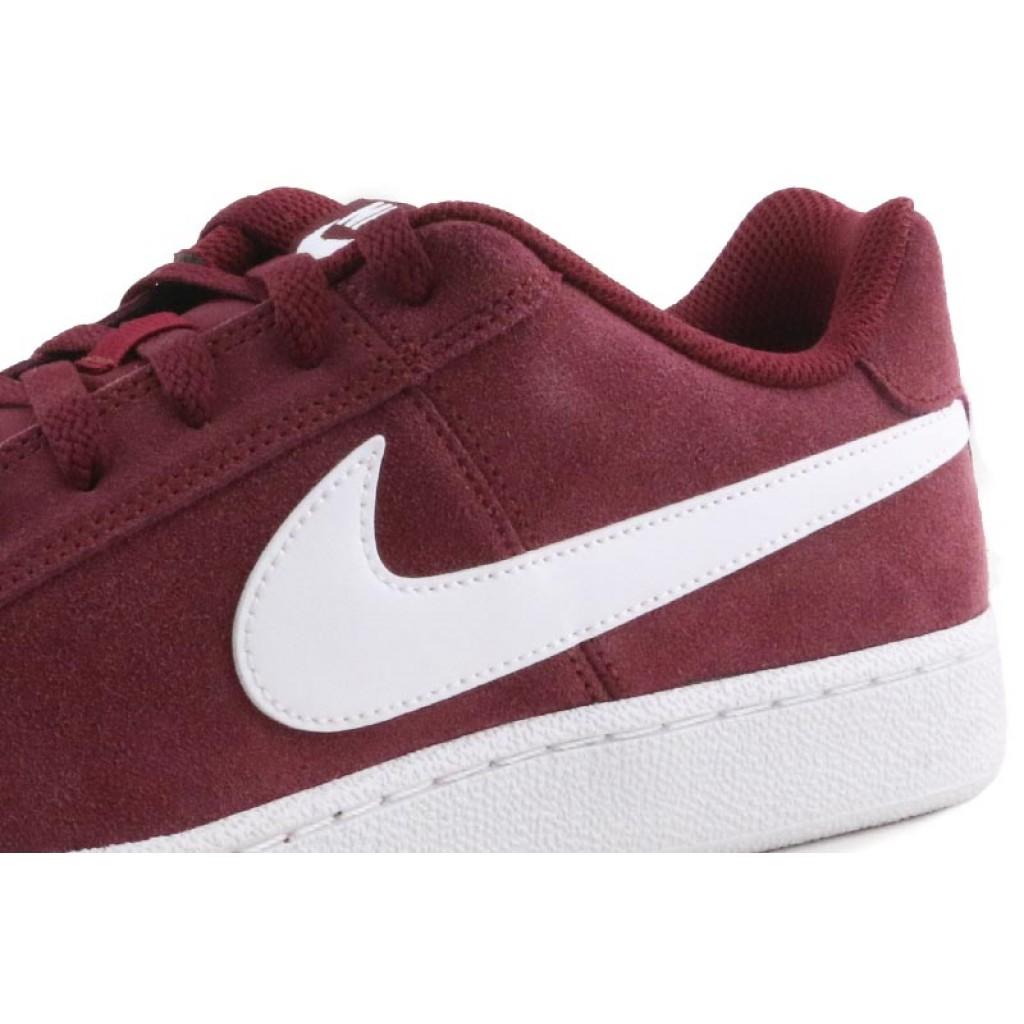 Deportiva ante burdeos simbolo blanco Nike Court Royale