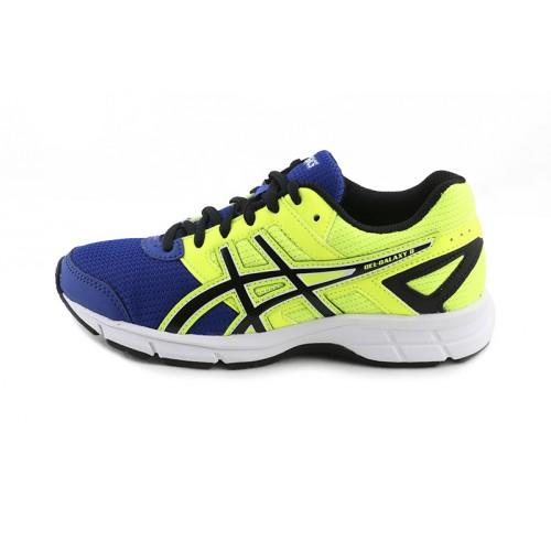 Deportiva running azul/amarillo con cordón GELGALAXY Asics
