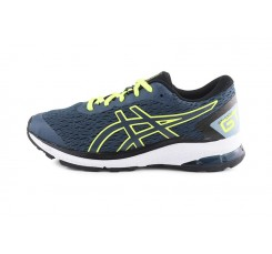 Deportiva running azul/amarillo con cordón Asics Gt-10009