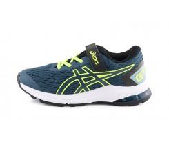 Deportiva running azul/amarillo con cordón y velcro Asics Gt-10009