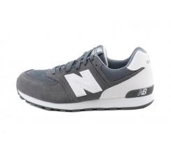 Zapatilla gris y blanco cordón New Balance