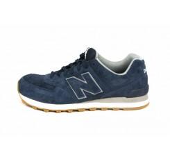 Zapatilla ante azul con N azul con cordón ML574 New Balance