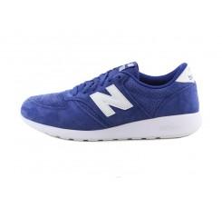 Deportiva ante azulón con la N blanca con cordón MRL420 New Balance