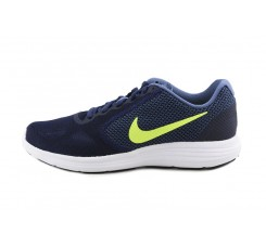 Deportiva azul con símbolo verde con cordón Nike Revolution