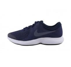 Deportiva azul/gris con símbolo gris Nike Revolutión