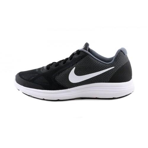 Deportiva negra con simbolo blanco con cordón Nike Revolution