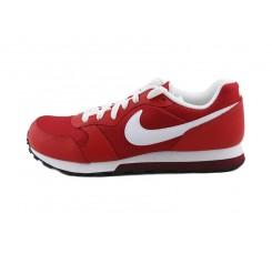 Deportiva roja con simbolo blanco con cordón Nike Runner
