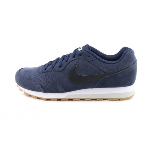 Deportiva ante total azul con simbolo azul con cordón Nike Runner