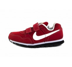 Deportiva roja con símbolo en blanco de velcro Nike Runner
