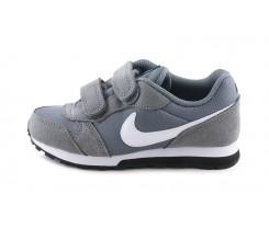 Deportiva gris con símbolo gris claro con velcro Nike Runner