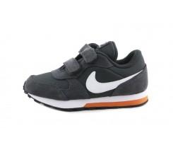 Deportiva gris oscuro con simbolo blanco con velcro Nike Runnervel
