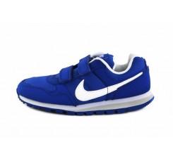 Deportiva azulón con símbolo blanco de velcro Nike Runner