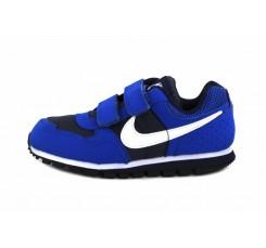 Deportiva azul negro con símbolo blanco con velcro Nike Runner