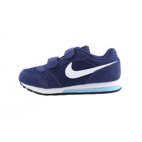 Deportiva azul/turquesa con símbolo blanco con velcro Nike Runner